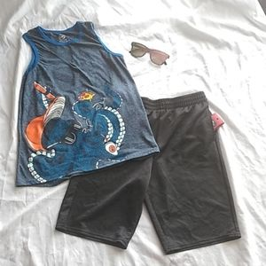 Boys summer short set